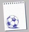 Scribble soccer ball