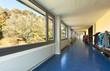 corridor in a modern school