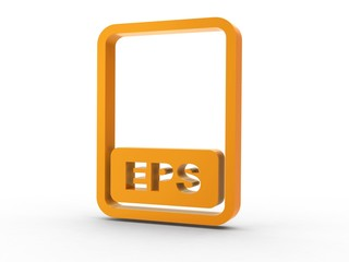 3d Icon Dokument EPS orange