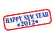 grunge rubber stamp - happy new year