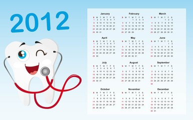 calendar with tooth