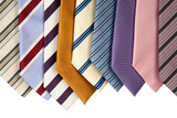 collection of neckties hanning