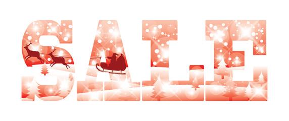 Christmas sale card, vector illustration