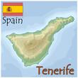 tenerife spain map flag emblem