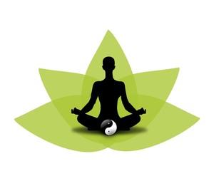 Mensch bei der Meditation - Yoga
