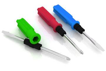 three images of universal screwdriver