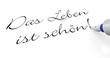 Stift Konzept - Das Leben ist schön!