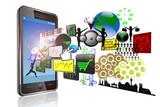 Smartphone mit verschiedenen Anwendungen