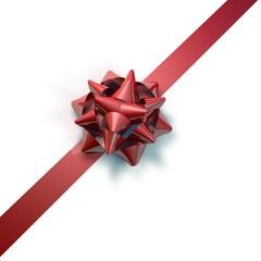 Rote Geschenkschleife  01
