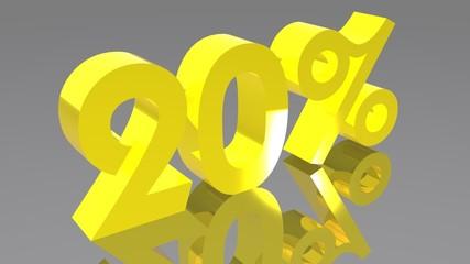 20% - Venti percento - Twenty percent
