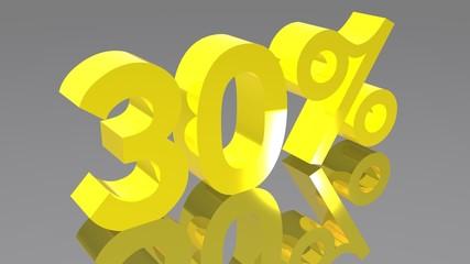 30% - Trenta percento