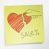 Valentine`s holidays sale concept. Vector.