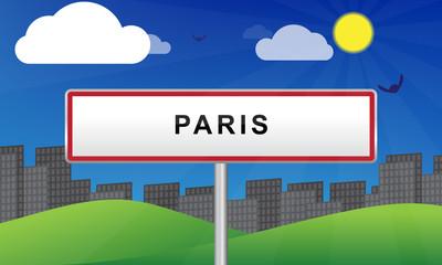Panneau ville paris