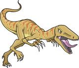 Raptor Dinosaur Vector Illustration poster