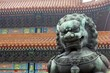 Stone Lion Statue - Forbidden City (center)