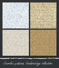 Seamless pattern: Handwritings collection.