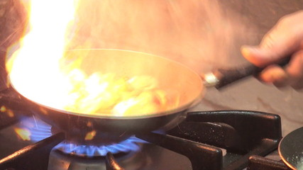 cooking flambe