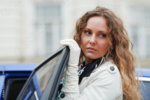 Woman with a car