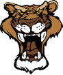 Cougar Panther Mascot Head Vector Cartoon