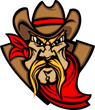 Cowboy Mascot Head Vector Illustration