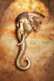 Asia elephant head poster