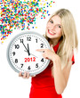 new year 2012. five to twelve