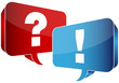 Speech Bubbles Question & Answer Red/Blue
