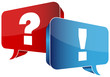Speech Bubbles Question Red & Answer Blue