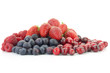 A pile of mixed berries