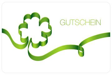 Gutschein Vierblättriges Kleeblatt Grün