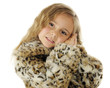 Young Girl in Leopard Coat