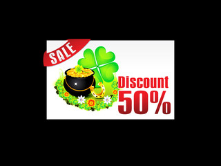 abstract st patrick discount card template