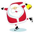 Santa with bell skating