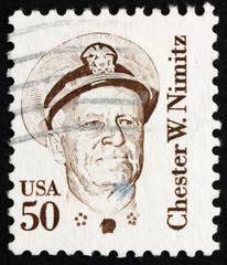 Postage stamp USA 1985 Chester W. Nimitz