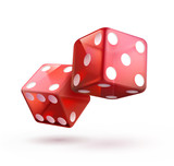 Fototapety shiny red dices