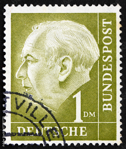 Postage stamp Germany 1954 Theodor Heuss