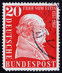 Postage stamp Germany 1957 Baron vom Stein