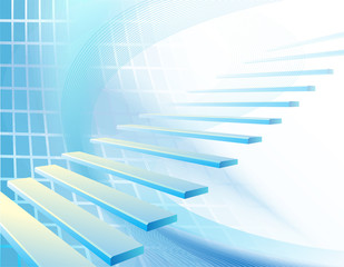 Abstract business background with stair