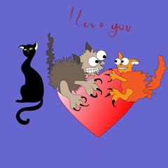 Кошачья любовь2