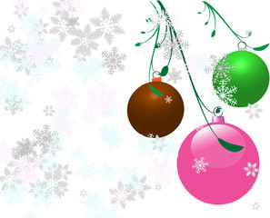 Vector Colored Christmas Bulbs
