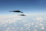 Strategic bombers in flight poster
