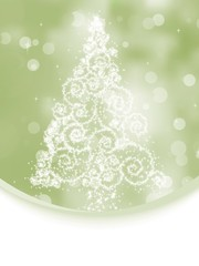 Christmas tree on elegant bokeh. EPS 8
