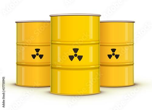 yellow metal barrels - 37758943