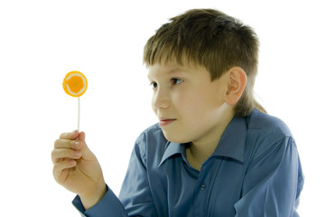 boy with lollipop