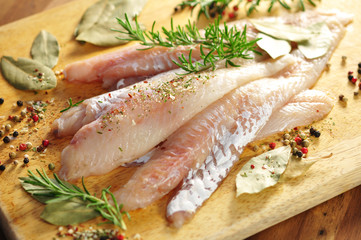 Fischfilets, Gewürze