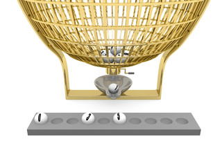 Golden lottery cage