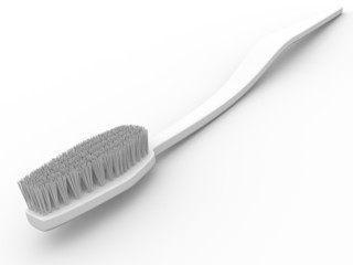 White toothbrush