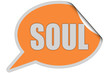 SP-Sticker orange curl oben SOUL