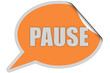 SP-Sticker orange curl oben PAUSE