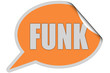 SP-Sticker orange curl oben FUNK